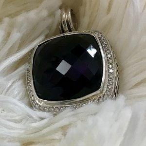 David Yurman 20mm amethyst & diamond enhancer